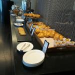 Pastries at the buffet breakfast