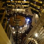 Look down to the Atrium bar