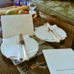 Welcome note - nice touch!