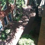 View of the courtyard from outside our room