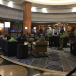 Busy check in and lobby area
