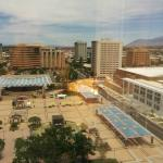 View of city plaza and convention center fron 13th floor