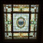 Stained glass in lobby ceiling