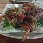 canejos (stuffed fresh water crab)