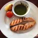 The salmon is a great choice at a reasonable price.