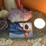 Private Reiki and CranioSacral therapy students create altar space during their courses