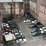 View of the Valet parking lot from the LQ 9th floor