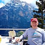 The outdoor area at the Hotel Eiger restaurante