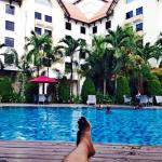 Chill and relax at the Santika Swimming Pool