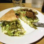 Falafel sandwich at nearby shop