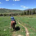 Riding song a trail