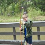 The excitement of catching a first fish