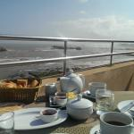 Picture from breakfast- view of the sea