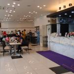 hotel lobby and cafeteria