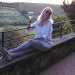 Enjoying a glass of vino overlooking the beautiful sites