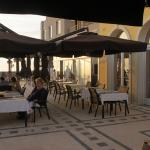 The terrace to the restaurant Palazza