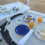 wonderful breakfast served on the terrace outside the suite