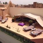 The courtyard and rooftop terrace