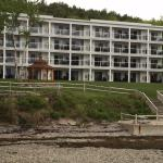 View of building at low tide