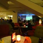 the bar and the small live show at holiday inn Malacca