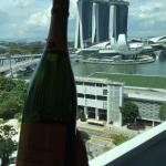 Champagne kissed Bay Sands from hotel room
