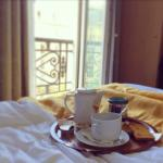 Breakfast in bed with view