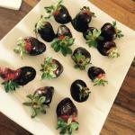 Chocolate dipped strawberries on arrival!