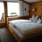 A view of the main bed in the family suite.