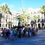View of Placa Reial from in front of the Hotel DO