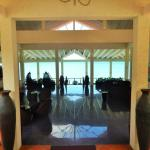The entrance to the open air beautiful lobby