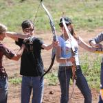 After shooting, it's time to try archery.