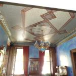 Beautiful ceiling in dining area