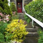 The walkway up to the front door.  (How nice to be visiting in May!)