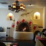 Beautifully decorated lobby for the Holidays