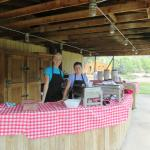 Your helpful and happy staff ready to serve you from the picnic bar