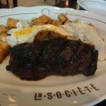 Steak for breakfast, a compliment of AMEX Taiwan!