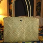 Handwoven beach bag - YOURS included
