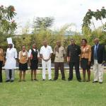 General Manager Aggrey with staff in the beautiful garden area!