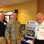Ed Wexler, CW4 Woodward, Randy Hardin at ESGR Display