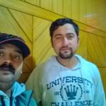 With Mr. Ankush, Manager of Hotel