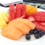 Fruit plate by the pool