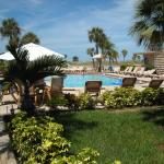 Well maintained garden and pool area
