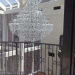 Chandelier in the lobby area
