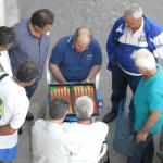 The locals playing backgammon.