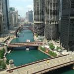 View from our room of the Chicago River