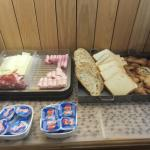 breakfast meats and cheeses