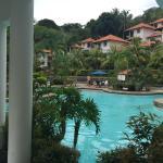 Outside resort has good view, two Swiming pool. Restaurant is good and serve normal buffet break