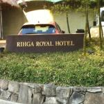 Hotel sign on front lawn