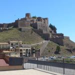 Parador Cardona from the salt mountain mine