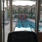 View from a treadmill in the fitness center.